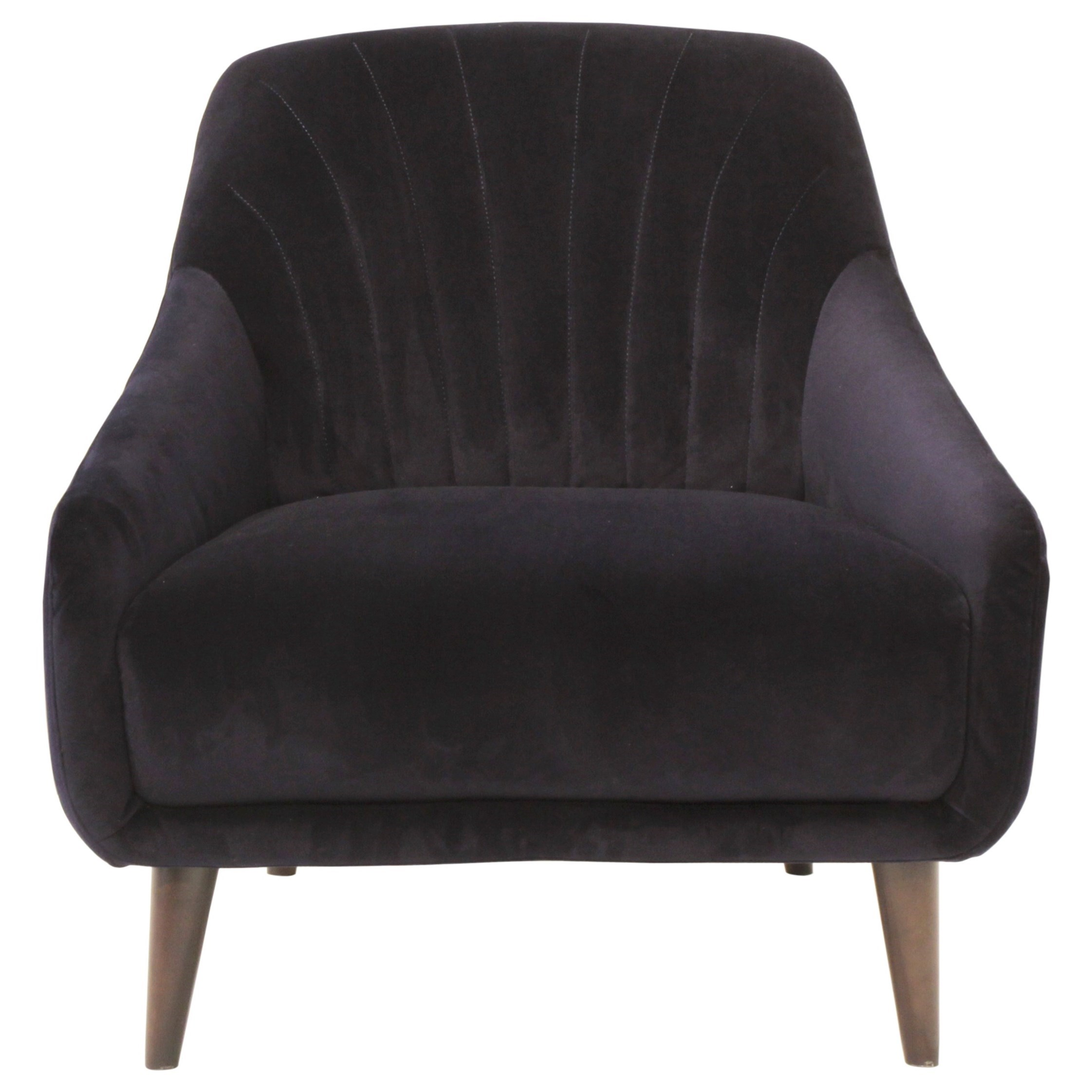 Natuzzi Editions Felicita Chair - Item Number: C014-003-Brezza Dark Blue