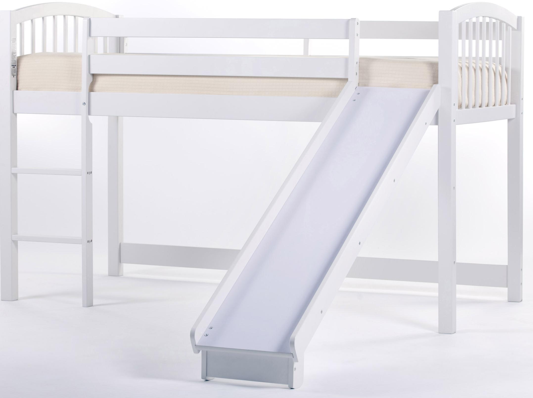 NE Kids School House Junior Loft Bed w Ladder and Slide Wayside