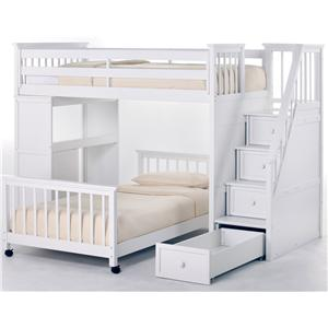 NE Kids School House Twin Stair Loft Bed