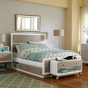 NE Kids White Full Panel Bed