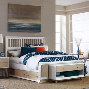 NE Kids White Full Spindle Bed