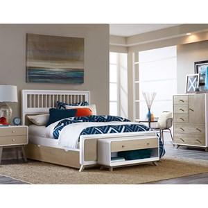 NE Kids White White Full Spindle Bedroom Group