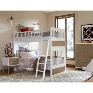 NE Kids White White Bunk Bed Group