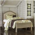 NE Kids Highlands Twin Bailey Arch Upholstered Bed - Item Number: 10010