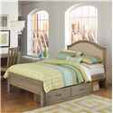 NE Kids Highlands Full Bailey Upholstered Bed with Storage - Item Number: 10015+10590