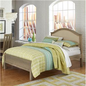 NE Kids Highlands Full Bailey Arch Upholstered Bed