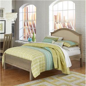NE Kids Highlands Full Bailey Arch Upholstered Bed
