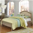 NE Kids Highlands Full Bailey Arch Bed with Cream Upholstered Headboard - Bed Shown May Not Represent Size Indicated