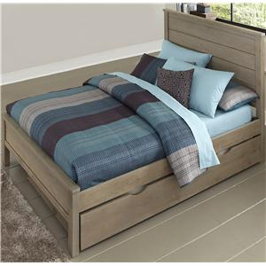 NE Kids Highlands Full Alex Flat Panel Bed with Trundle