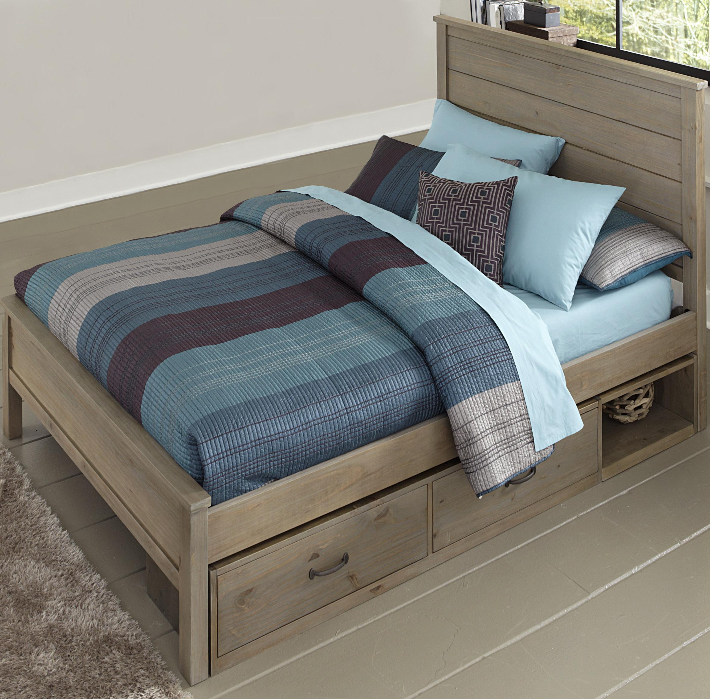 NE Kids Highlands Full Alex Flat Panel Bed with Storage - Item Number: 10025+10590