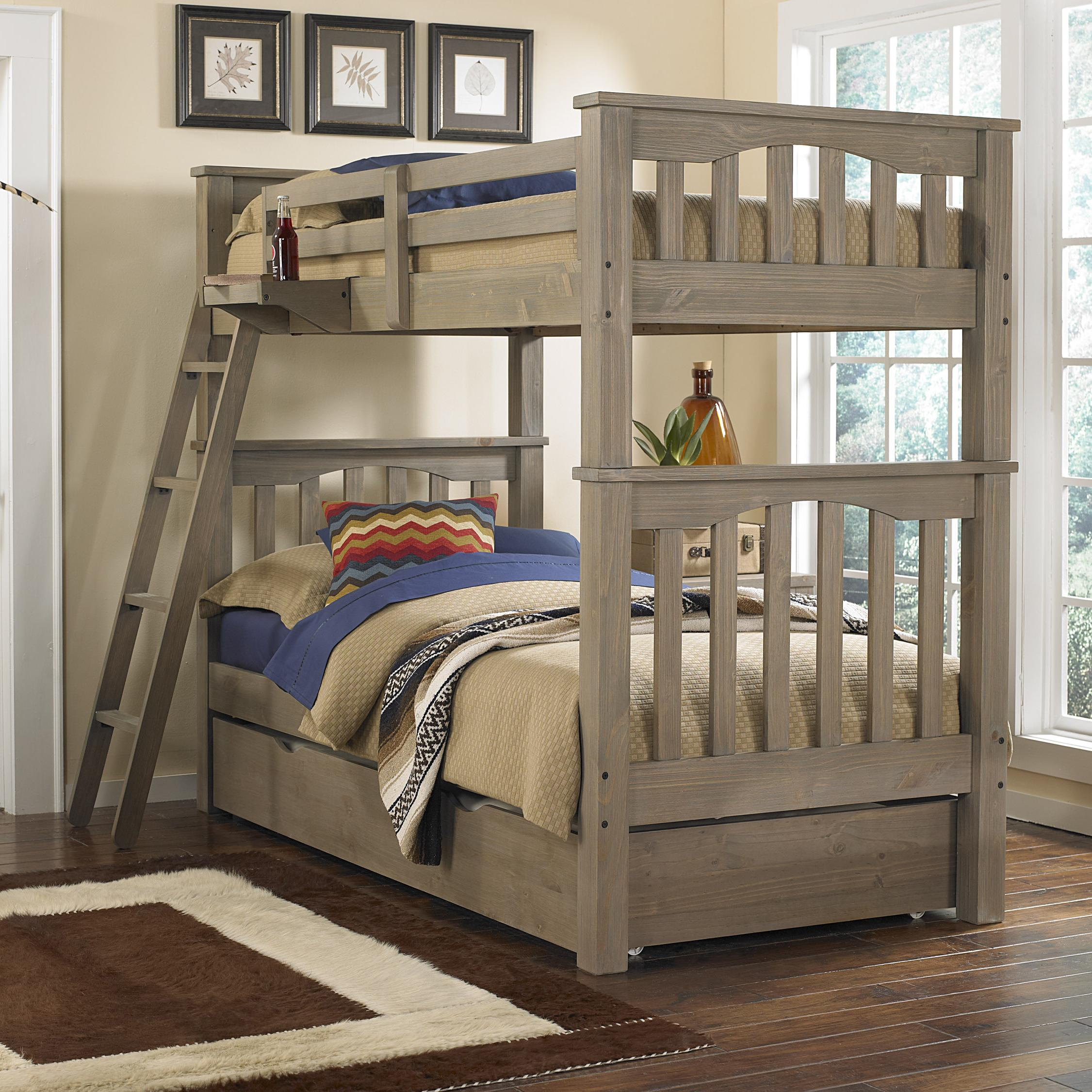 NE Kids Highlands Harper Twin Over Twin Bunk Bed With Trundle - Item Number: 10051+10560