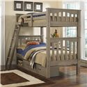 NE Kids Highlands Twin Over Twin Harper Bunk Bed With Storage - Item Number: 10051+10590