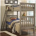 NE Kids Highlands Mission Style Twin Over Twin Harper Bunk Bed - Hanging Tray Sold Separately
