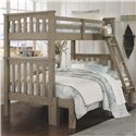 NE Kids Highlands Harper Twin Over Full Bunk Bed - Item Number: 10055