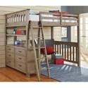 NE Kids Highlands Mission Style Twin Loft Bed