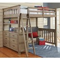 NE Kids Highlands Mission Style Twin Loft Bed - Bed Shown May Not Represent Size Indicated