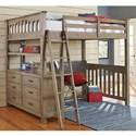 NE Kids Highlands Twin Loft Bed - Item Number: 10070N