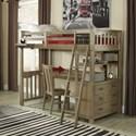 NE Kids Highlands Twin Loft Bed with Desk - Item Number: 10070ND
