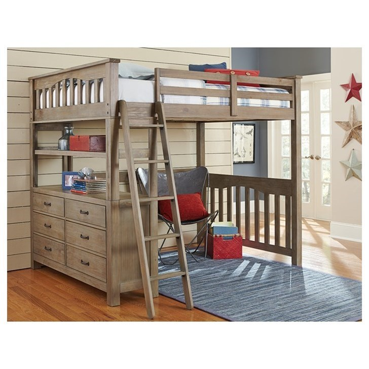 Highlands Full Loft Bed by NE Kids at Stoney Creek Furniture