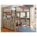 NE Kids Highlands Full Loft Bed with Desk - Item Number: 10080ND