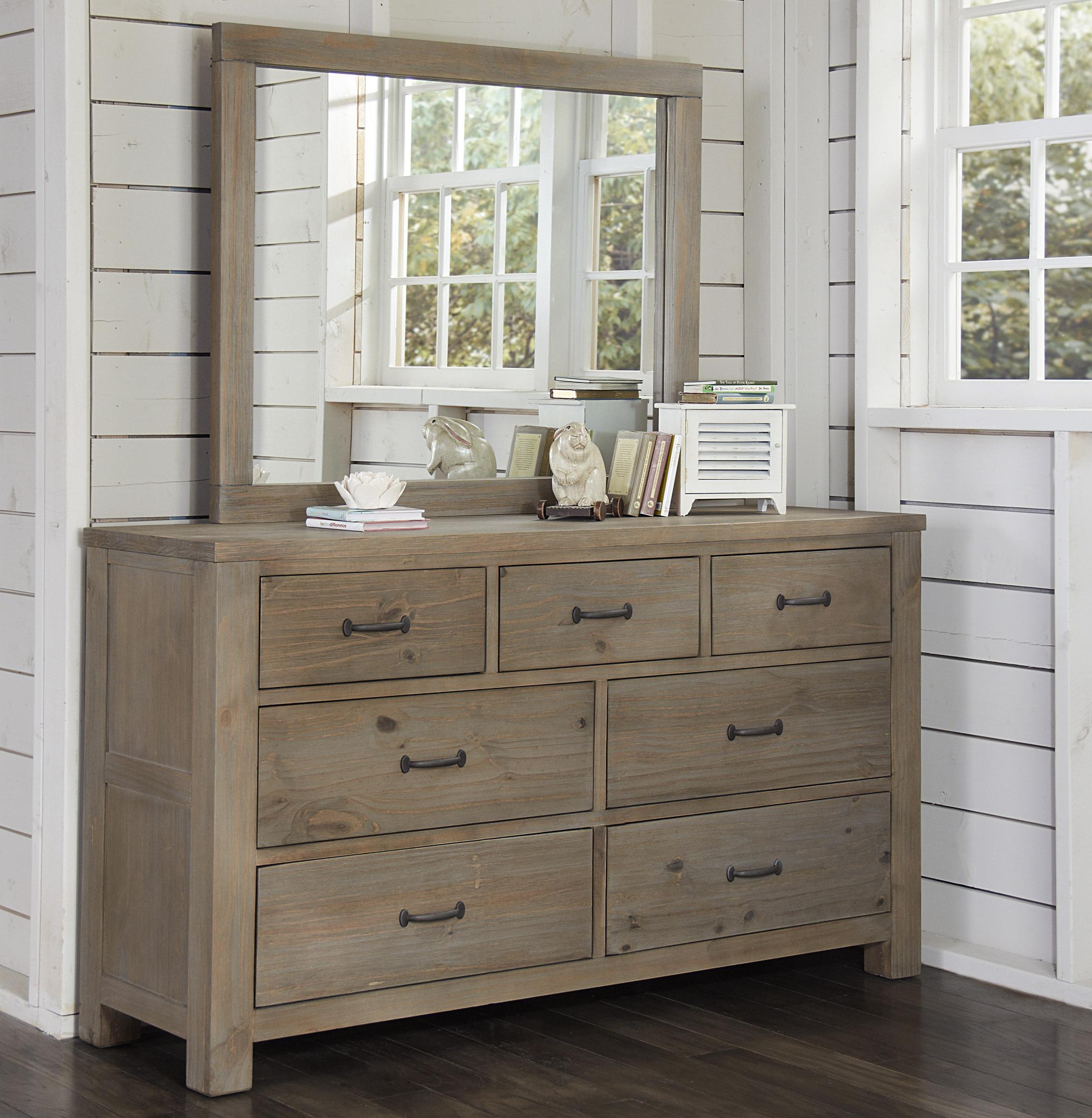NE Kids Highlands Dresser and Mirror - Item Number: 10500+10510