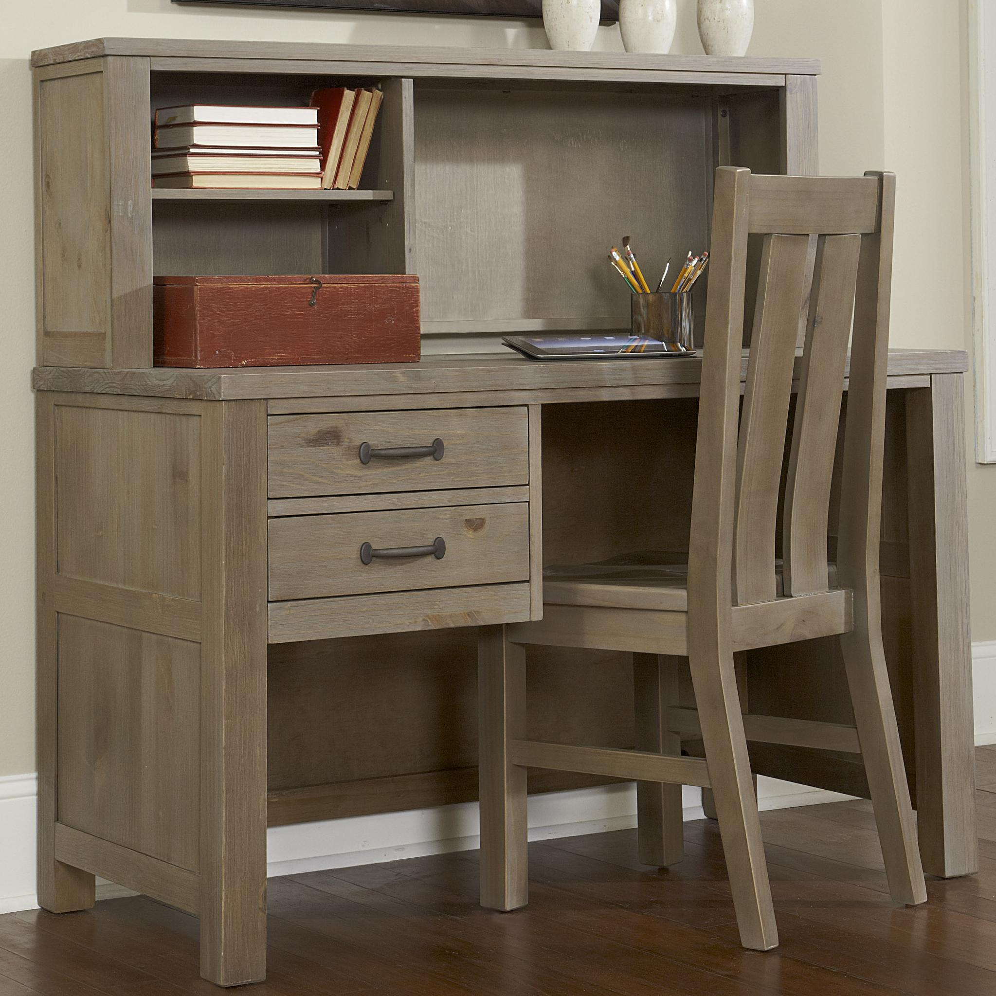 NE Kids Highlands Youth Shell Desk and Hutch - Item Number: 10540+10550