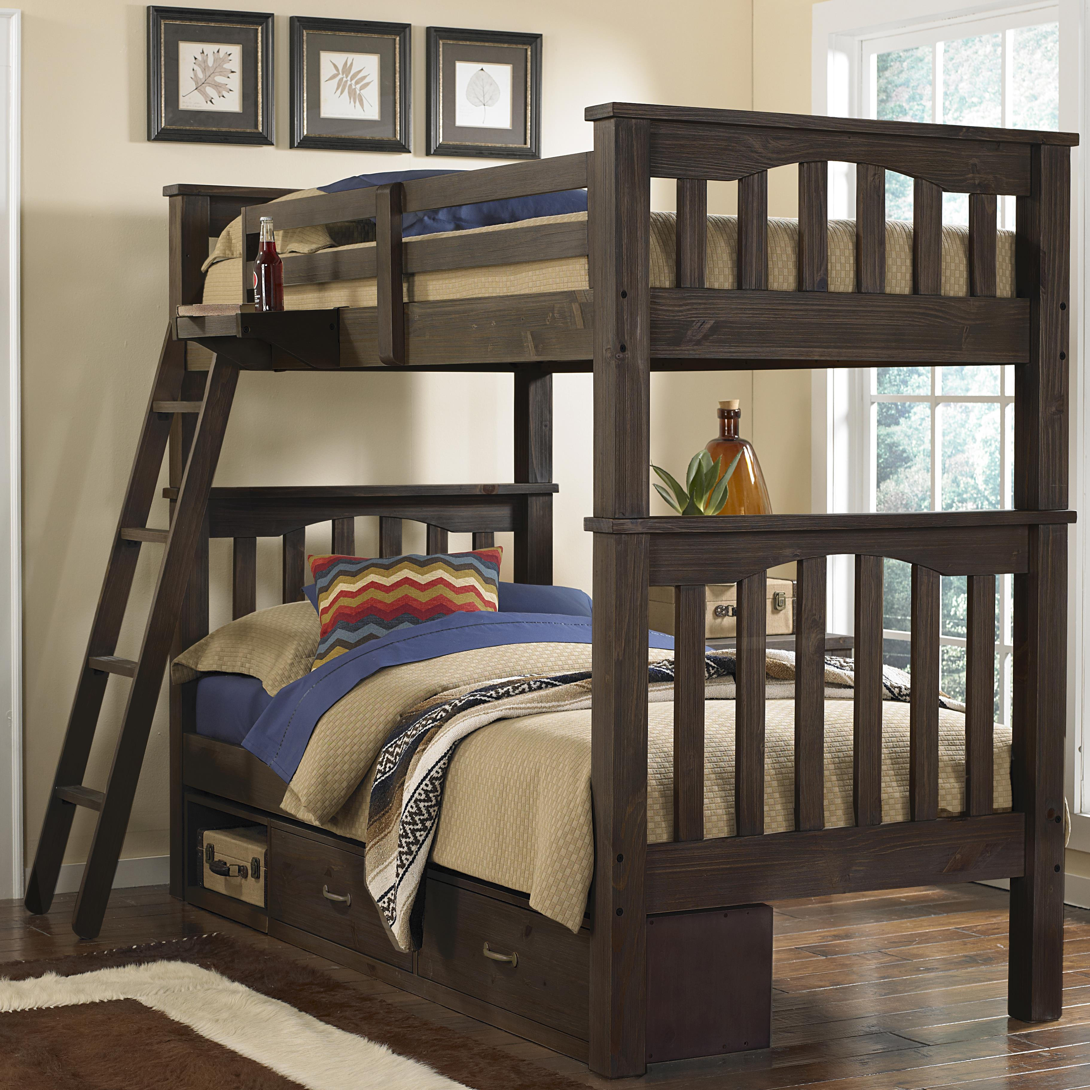 Twin Over Twin Harper Bunk Bed With Storage