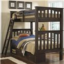 NE Kids Highlands Twin Over Twin Harper Bunk Bed With Storage - Item Number: 11051+35+90