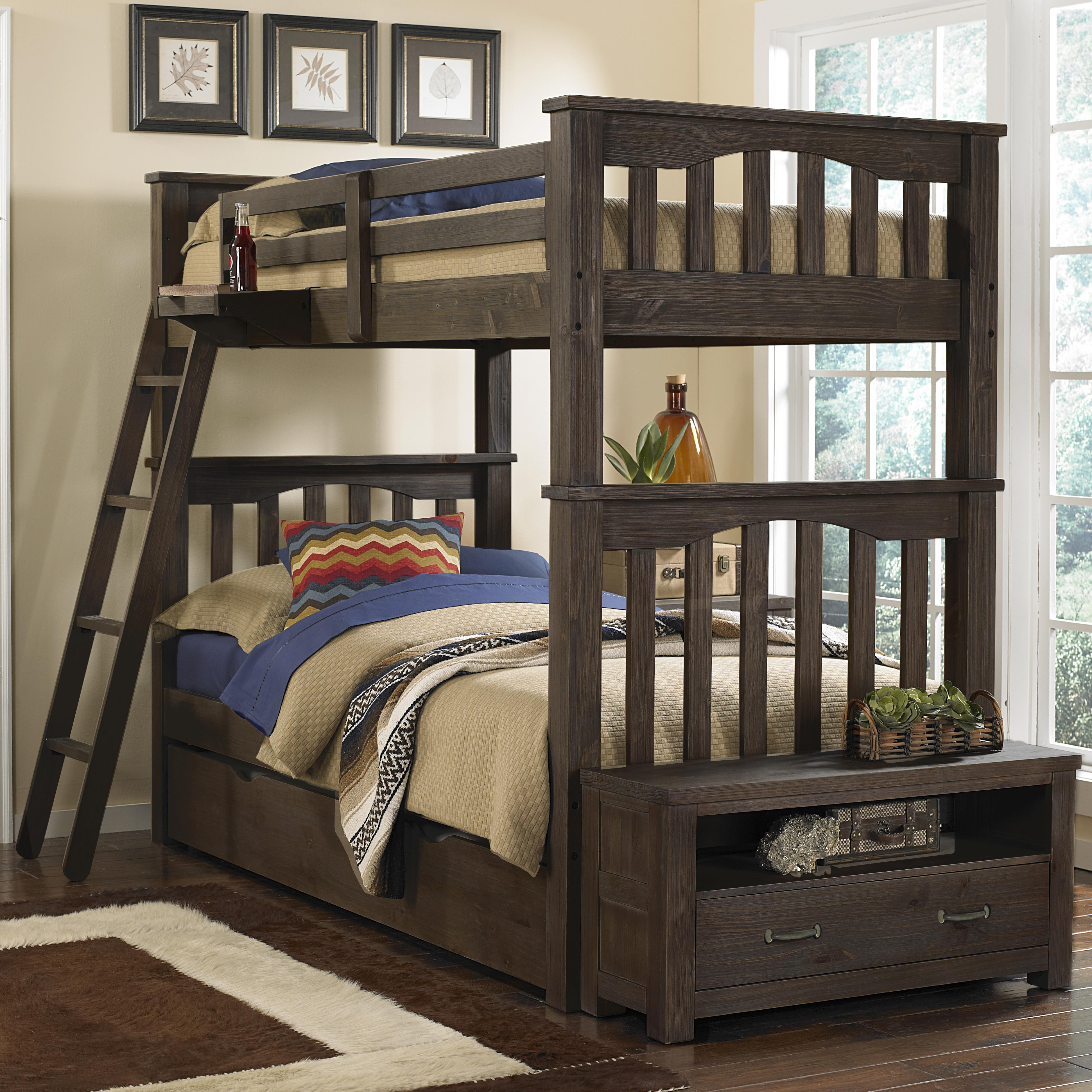 Ne Kids Highlands Mission Style Twin Over Twin Harper Bunk