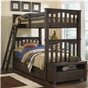 NE Kids Highlands Harper Twin Over Twin Bunk Bed With Trundle - Item Number: 11051+560