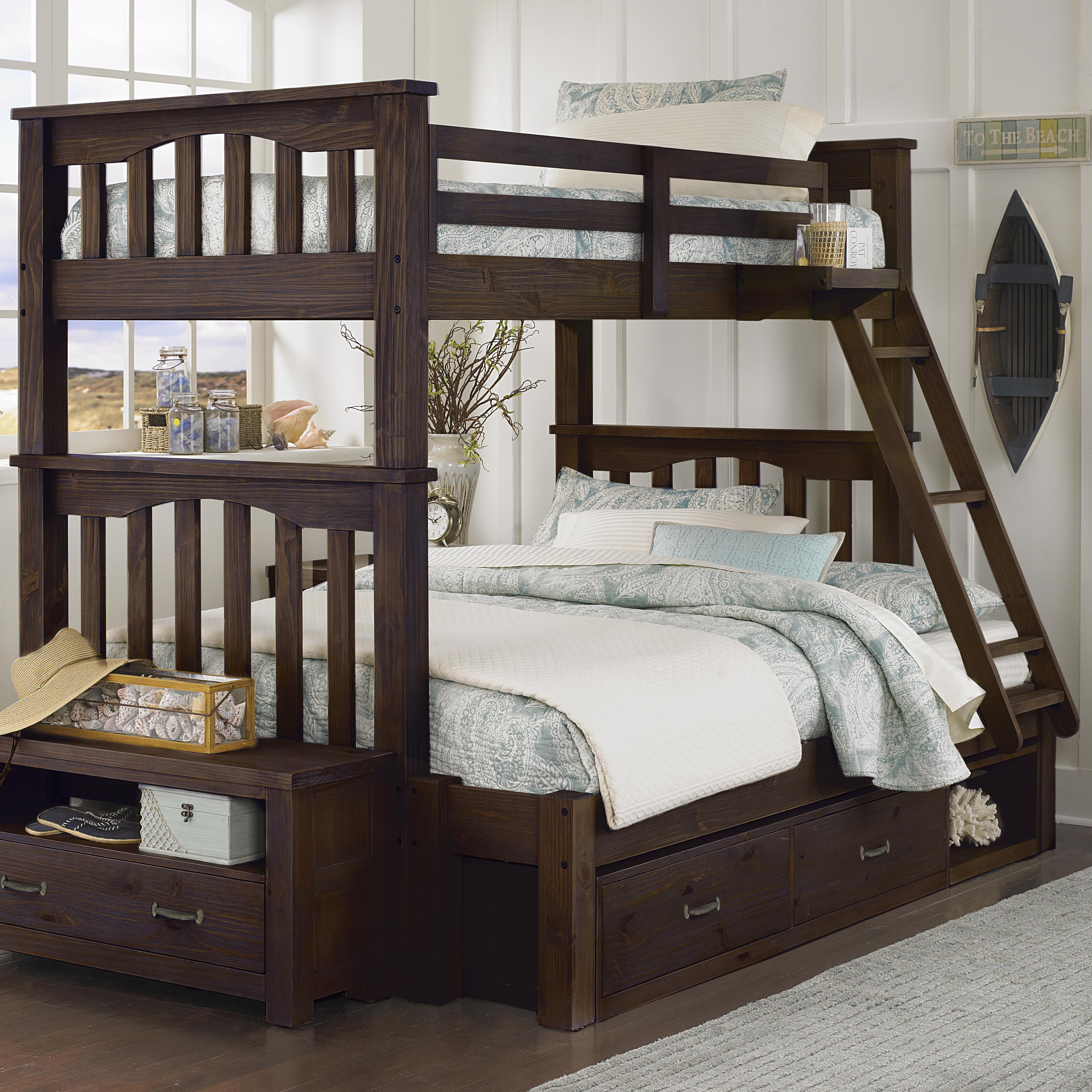 Twin Over Full Harper Bunk Bed With Storage