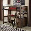 NE Kids Highlands Twin Loft Bed with Desk - Item Number: 11070ND