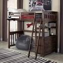 NE Kids Highlands Full Loft Bed - Item Number: 11080N