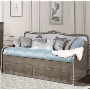 a2e8b7ac67891 NE Kids Kensington Full Upholstered Katherine Bed with Scroll ...