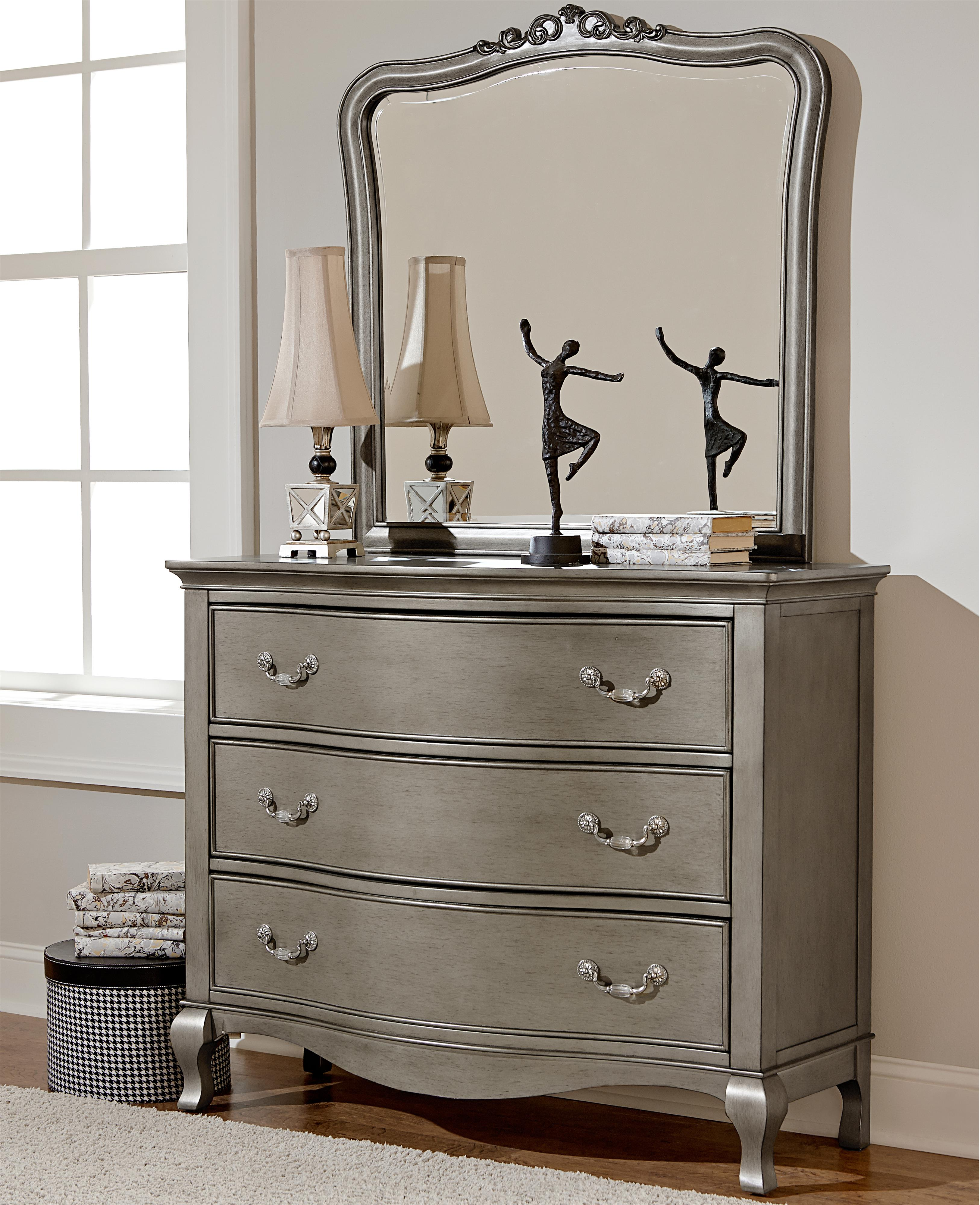 Single Dresser and Mirror Set