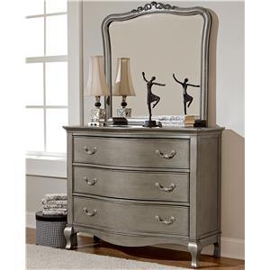 NE Kids Kensington Single Dresser and Mirror Set