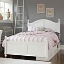 NE Kids Lake House Full Payton (Arch) Bed + Storage Unit - Item Number: 1015N+1580