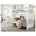 NE Kids Lake House Twin Bunk Bed with Arched Headboard and Footboard