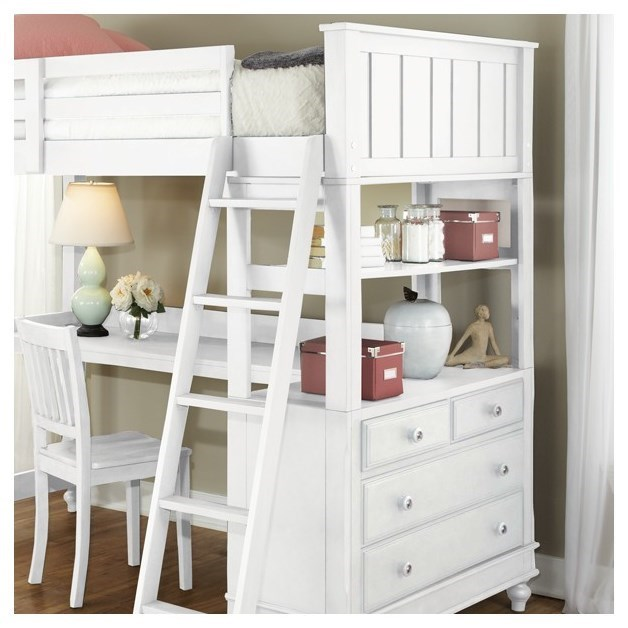Ne Kids Lake House 1040nd Twin Loft Bed With Desk And