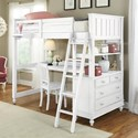 NE Kids Lake House Twin Loft Bed with Desk - Item Number: 1040N