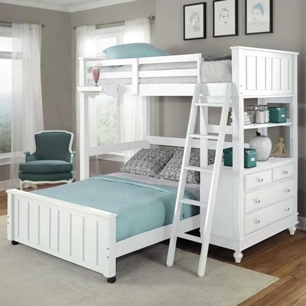 Lake House Lofted Bed with Full Lower Bed by NE Kids at Stoney Creek Furniture