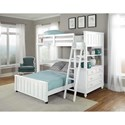 NE Kids Lake House Lofted Bed with Full Lower Bed