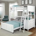 NE Kids Lake House Lofted Bed with Full Lower Bed - Item Number: 1040NLFB