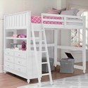 NE Kids Lake House Lofted Full Bed - Item Number: 1045N
