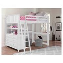 NE Kids Lake House Lofted Full Bed
