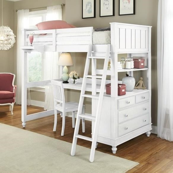 NE Kids Lake House Full Loft Bed with Desk - Item Number: 1045ND