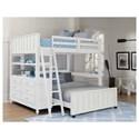 NE Kids Lake House Lofted Full Bed with Full Lower Bed