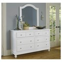 NE Kids Lake House 8 Drawer Dresser + Arched Mirror - Item Number: 1500+1510