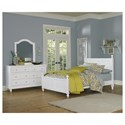 NE Kids Lake House 8 Drawer Dresser with Secret Drawer and Beveled Edge Mirror with Arched Frame