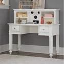 NE Kids Lake House Writing Desk + Entertainment Desk Hutch - Item Number: 1540+1550